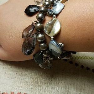 2 handmade bracelets